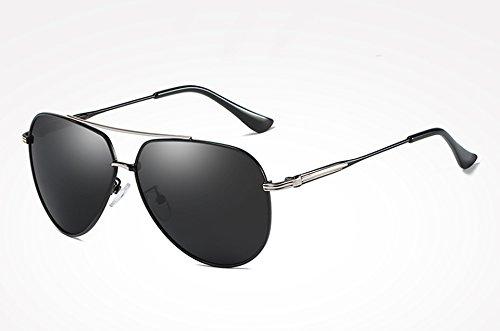 Sunglasses de Lunettes soleil Lunettes miroir de Hommes gray Drive TL soleil mâle de Retro lunettes Femmes Homme soleil polarisées de de Vintage black silver f7TqwdnT4x
