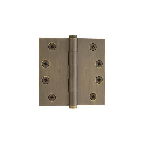 Baldwin 1040.050 Full Mortise 4-Inch x 4-Inch Butt Hinge, Satin Brass and Black