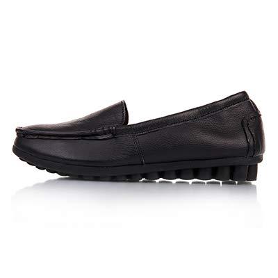 de FLYRCX Maternidad A cómodos otoño Primavera Trabajo Casuales de Planos Cuero Zapatos Antideslizantes Sueltos de y Zapatos Zapatos de aqErTxwa