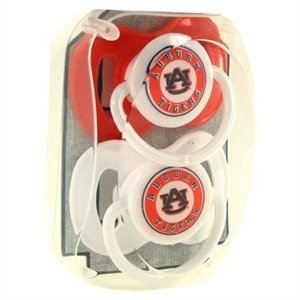 (Jenkins Enterprises NCAA Auburn Tigers Two Pack of Baby Paciifers)