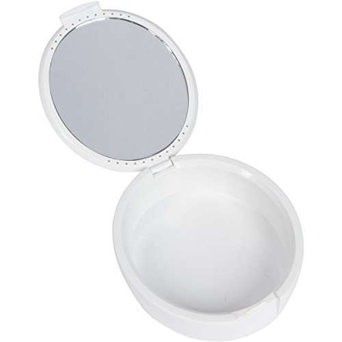 Invisalign or Essex Style Invisible Aligner Tray Case with Mirror - White