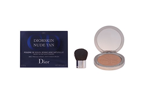 Christian Dior Tan Glow Sun Powder Kabuki Brush, 001 Honey, 0.35 Ounce