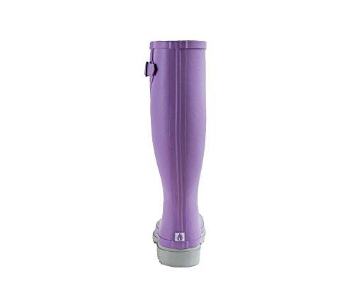 Rain Rubber Oxbow Gusset Womens Boots Lavender Oakiwear w Beige CtqvZSwZx