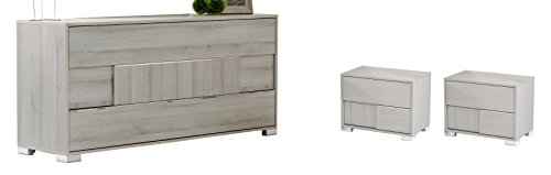 Limari Home LIM-72636 Willem Bedroom Set, Grey