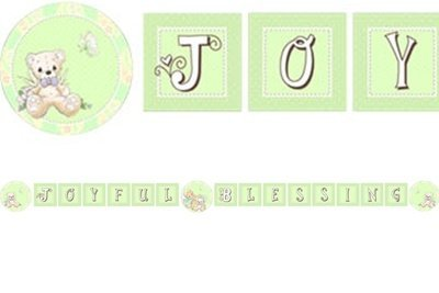 Precious Moments Baby Party Letter Banner