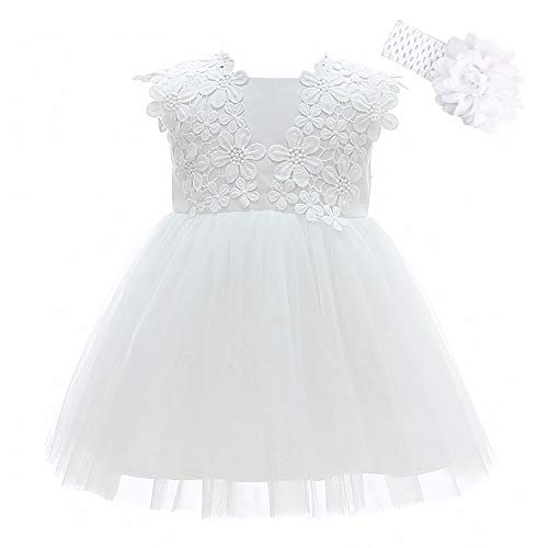 Xangirl Baby Girls Christening Baptism Gowns Party Pageant Formal Flower ()