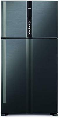 هيتاشي ثلاجة 820 لتر مع فريزر علوي, فضي/ RV820PUK1KBSL: Amazon.ae