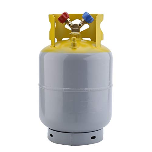 Serendipityy Portable 30lb 50lb Refrigerant Recovery Cylinder Steel 400 PSI Refrigerant Reclaim Tank Reusable Recovery Device