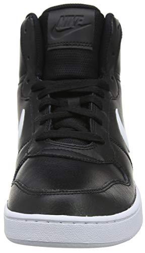 002 Black White Herren Schwarz Basketballschuhe Nike Ebernon Mid c01fFxq