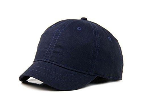 Crazy Cart Hot Sell Adjustable Men and Women Sun Hat Breathable Short Brim Baseball Cap Navyblue -