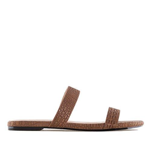 Machado Andres 45 mujer Serpiente Am5238 42 Plana tallas Marron Grandes sandalia dCwqCzRr