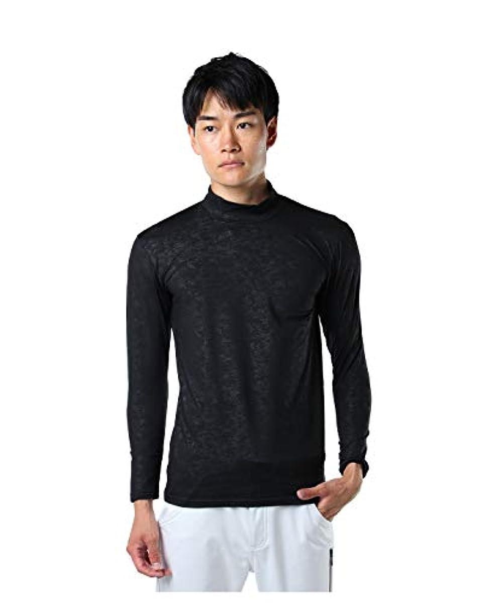 [해외] 투어 디 비젼 골프 언더 웨어 긴 소매 맨즈 엠보스 긴 소매HN언더 셔츠 TD220210H01 BK M