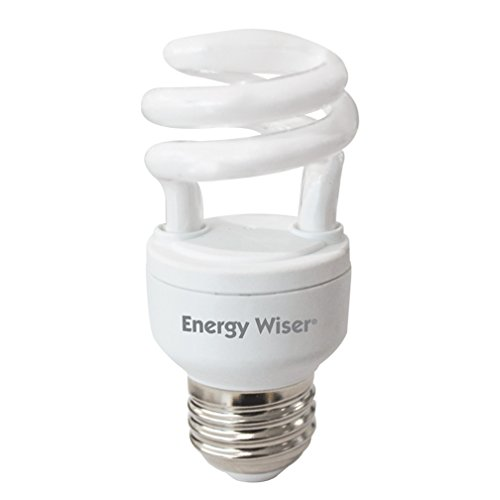 Bulbrite 509206 CF5WW/LM 5W Low Mercury Compact Fluorescent T2 Coil with Medium Base, 25W Equivalent, Warm White ()