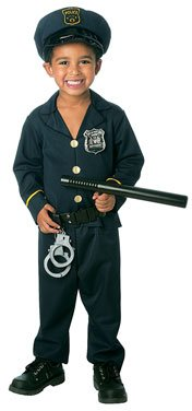 Jr. Policeman Toddler Costume(3T-4T-As Shown)