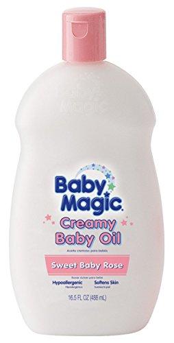 Baby Magic Creamy Baby Oil 16.5 Ounce Sweet Baby Rose (488ml) (2 ()