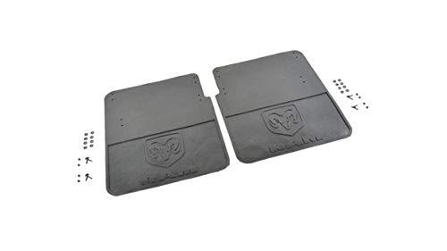 Heavy Duty Rubber Splash Guards, Black Rear Heavy Duty w/ Logo, Dual Rear Wheels 82212073AC