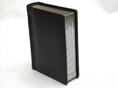 (Professional 5x7 Black Silver Edged Slip-In Wedding/Parent Photo Album holds 24)