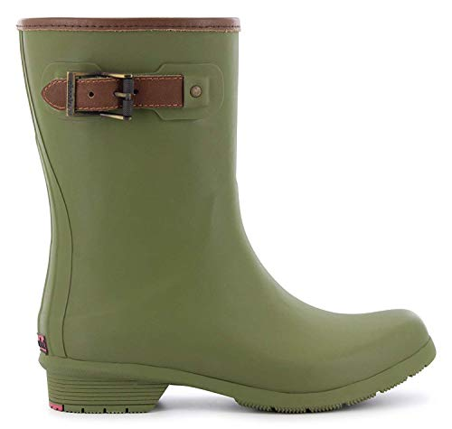Chooka Women's Mid-Height Memory Foam Rain Boot, Olive, 8 M US