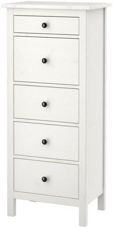 Ikea HEMNES - Cómoda de 5 cajones, Blanco Mancha - 57x130 cm ...