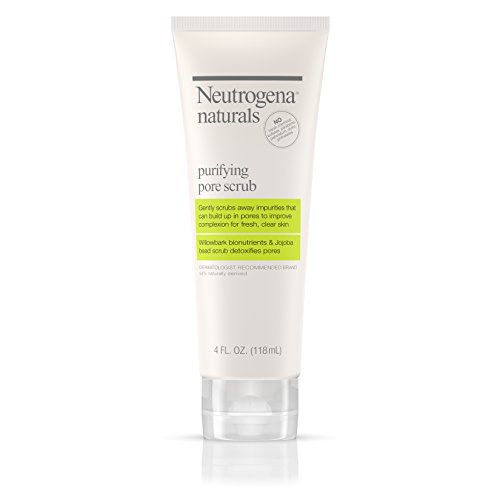 Neutrogena Naturals Purifying Daily Pore Facial Scrub with Natural Salicylic Acid from Willowbark Bionutrients, Hypoallergenic, Non-Comedogenic & Sulfate-, Paraben- & Phthalate-Free, 4 fl. Oz (3 pack)