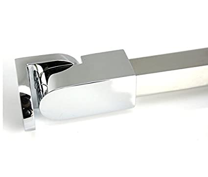 Soporte de pared para puerta de ducha de cristal de 1//4 a 3//8 pulgadas M-Home acero inoxidable, sin marco