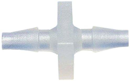 MettleAir 129PP-2-1PK Polypropylene Plastic 1/8 ID Hose Barb Mender/Splicer/Joiner/Union Fitting Tubing Hose Adapter/Coupler
