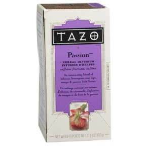 TAZO Passion Herbal Infusion Tea, Caffeine Free, 20-Count Tea Bags (Pack of ()