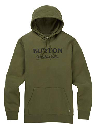 Burton Men's Durable Goods Pullover Hoodie, Dusty Olive W19, Large - Burton Fleece Jacket Hooded