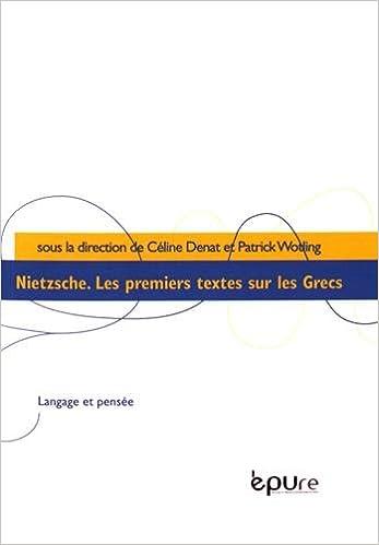 Livres Nietzsche : Les premiers textes sur les Grecs pdf, epub ebook