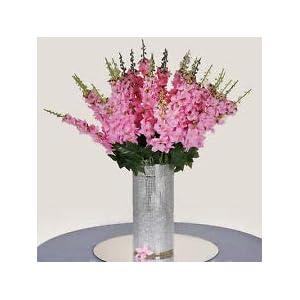 18 to 27 Pink Delphinium Stems Filler Silk Wedding Flowers Bouquet Centerpieces 73