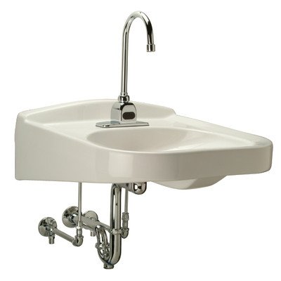 Zurn Z5321-PED Wheelchair ADA Lavatory with Half Pedestal, Single Hole, 23x20