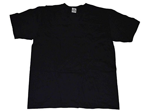 (Pro Club Men's Pack of 3 Pcs V-neck Heavyweight T-shirt 100% Cotton Black (X-large))