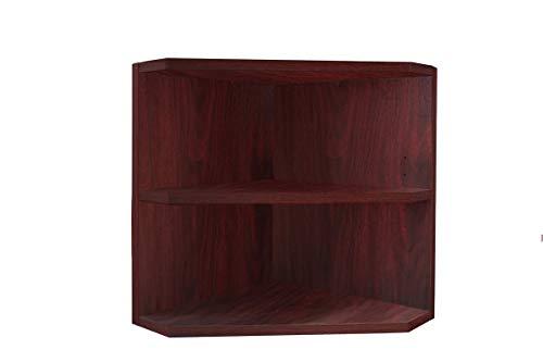 Mahogany Cabinet Bookcase Wall - MIK Wood Bookcase - 2 Tier Corner Bookcase - Mahogany