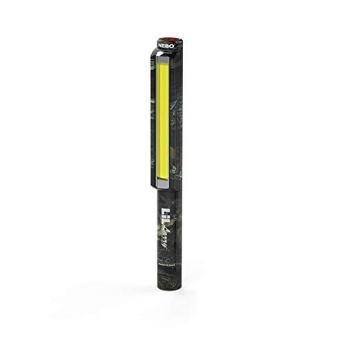 NEBO 250 Lumen COB LED Flashlight – NEBO Lil Larry 6466 – Aircraft-Grade Aluminum Body with a Belt Clip and Magnetic Base - Camo