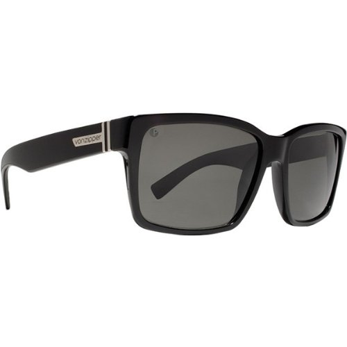 VonZipper Elmore Men's Polarized Casual Sunglasses - Black Gloss/Grey Poly / One Size Fits All
