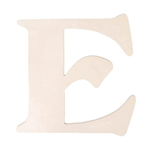 Darice 9130-E Fancy Wood Cutout, Letter E, 5-Inch