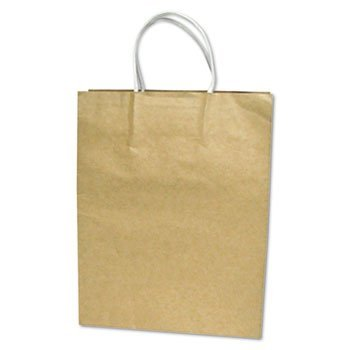 Cosco Plastic Box (COSCO Premium Small Brown Paper Shopping Bag, 50/Box (091565))