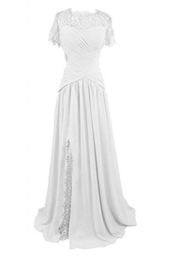 elegante gioiello Mother's in lungo Dress White sera abito raso da sera Sunvary HR5qOwn