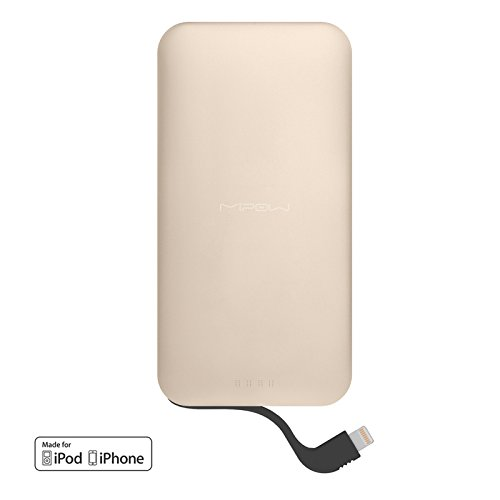 MiPow 5000mAh Portable Charge for Mobile Phones and Tablets - Gold