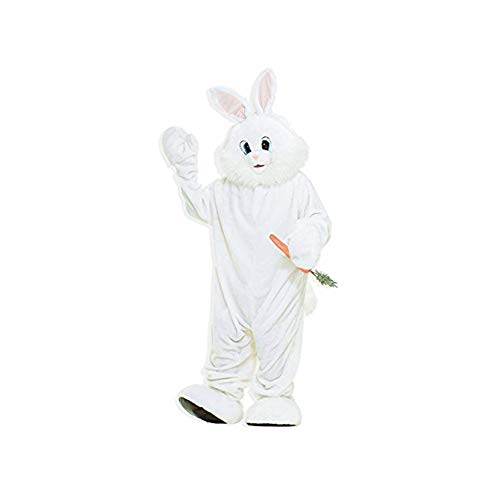 Forum Novelties Bunny Mascot Costume Plush Fur Rabbit - White - Large -