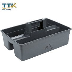 Tabletop king 3 Compartment Gray Janitor Caddy - 16