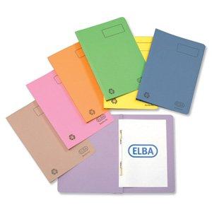 Elba Ashley Flat File 315gsm Capacity 35mm Foolscap Green Re