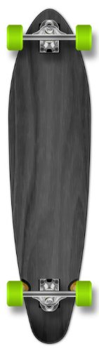 Yocaher New Complete Longboard KICKTAIL 70's Shape Skateboard w/ 71mm Wheels, Black