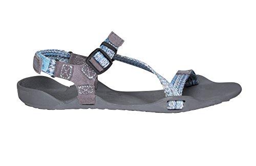 Xero Schuhe Barfuß-inspirierte Sport Sandalen - Z-Trek - Frauen Multi-Himmel