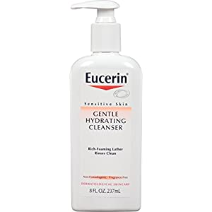 Eucerin Sensitive Skin Gentle Hydrating Cleanser 8 Fluid Ounce (Pack of 3)