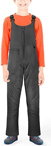 Sportneer Youth Insulated Snow Bib Overalls, Unisex Waterproof Ski Overalls Pants for Boys/Girls/Kids/Teen