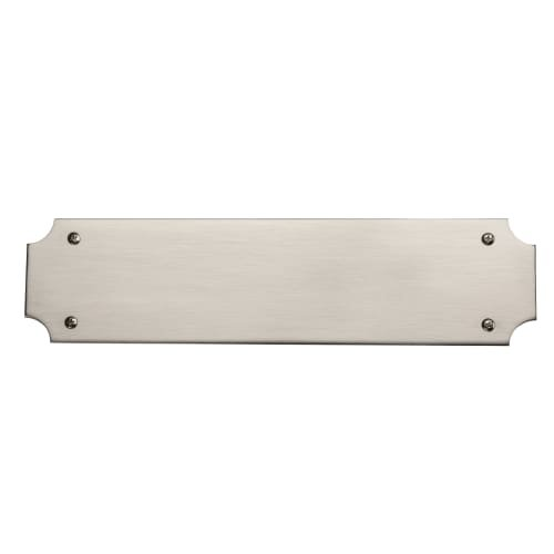 Baldwin 2276 3 Inch x 12 Inch Solid Brass Scalloped Push Plate, Satin Nickel Baldwin
