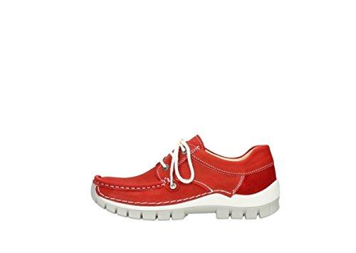de Zapatos 175 Rojo Wolky 4708 Cordones para Mujer n7ApptxwH