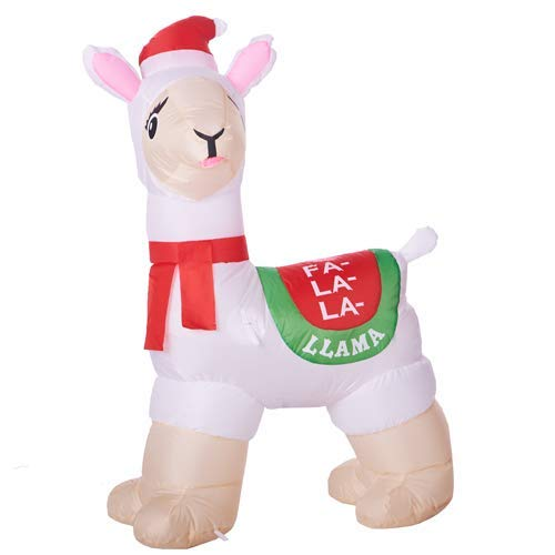 (Inflatable Holiday Time Llama 3.5 feet)