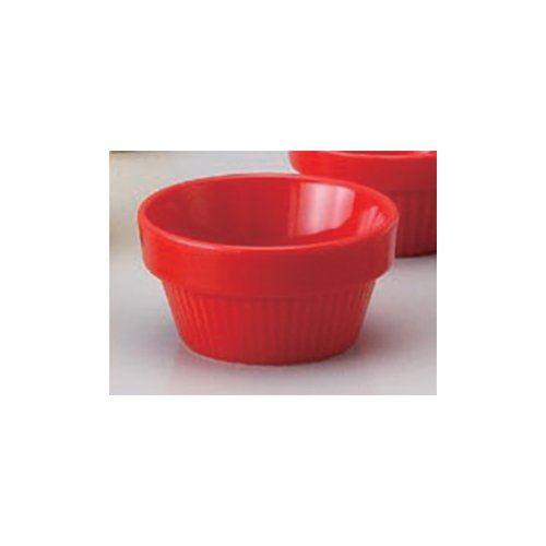 Souffle Plate utw680-40-204 [3.2 x 1.7 inch] Japanece ceramic Red stack souffle 80 tableware